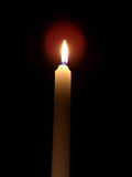 Candle. A picture of a white candle Royalty Free Stock Image