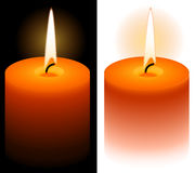 Candle. A candle in vector with white or black background Royalty Free Stock Image