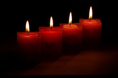 Candle. Use in some party Stock Photography