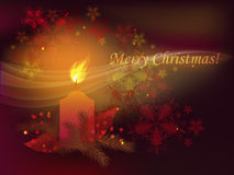 Candle. Decorative romantic Christmas background with candle Stock Photography