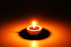 Candle. A closeup of a small candle royalty free stock images