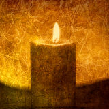 Candle. Textural image of a candle. Photo based illustration Stock Image