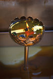 Candle. Lotus shaped candle burner in Thai temple Royalty Free Stock Photography