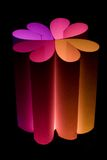 Candle 2. Hearts in the shape of a flower on a black background Stock Images