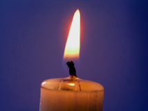 Candle. A flame in the night Royalty Free Stock Photography