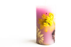 Candle. Filled with a white background royalty free stock image