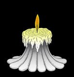 Candle. Hand drawn candle in black background Royalty Free Stock Photo