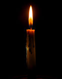 Candle. The Candle on A black background Royalty Free Stock Photo