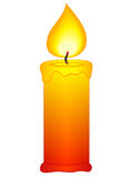 Candle. Icon on a white background Royalty Free Stock Images