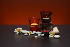 Candle. Health resort of Thailand Stock Photos