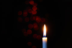 Candle. Christmas candle and bokeh background Royalty Free Stock Images