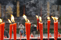 Candle. In a temple of Sichuan,china royalty free stock photos
