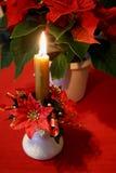Candle. Christmas time stock photo