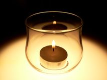 Candle. Lighted Royalty Free Stock Image