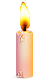 Candle. A brightness candle around the isolate  background Stock Image