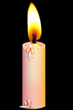 Candle. A brightness candle around the black colour background Royalty Free Stock Photos