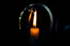 Candle. Light of the candle in the night Royalty Free Stock Photography