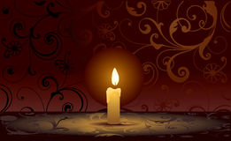 Candle. Vector decorative illustration for graphic design Stock Photography