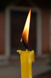 Candle. Thai temple candle Royalty Free Stock Image