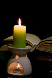 Candle And Book Royalty Free Stock Image