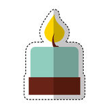 Candle aroma therapy icon Royalty Free Stock Images