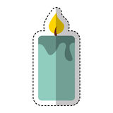 Candle aroma therapy icon Stock Photography