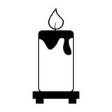 Candle aroma therapy icon Stock Image