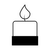 Candle aroma therapy icon Stock Photo