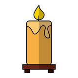Candle aroma therapy icon Royalty Free Stock Image