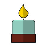 Candle aroma therapy icon Royalty Free Stock Photography