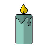 Candle aroma therapy icon Stock Photos