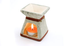 Candle for aromatherapy. On a white background Stock Photo