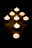 Candle arrow royalty free stock photography