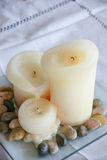 Candle Art. Installation Art by the Candle Royalty Free Stock Photo