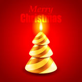 Candle as Christmas tree holiday concept Stock Image
