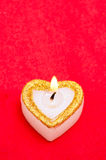 Candle as heart is on Royalty Free Stock Photo