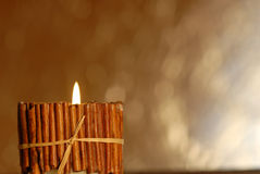 Candle background with copy space Royalty Free Stock Photography