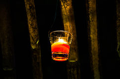Candle backgrounds in the Light. Is beautiful Royalty Free Stock Images