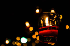 Candle backgrounds in the Light. Is beautiful Stock Photos