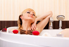 Candle Bath Royalty Free Stock Image