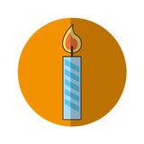 Candle birthday isolated icon. Vector illustration design Royalty Free Stock Image
