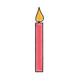 Candle birthday isolated icon. Vector illustration design Stock Images