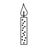 Candle birthday isolated icon. Vector illustration design Royalty Free Stock Images