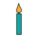 Candle birthday isolated icon Royalty Free Stock Photography