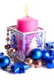 candle boże narodzenie dekorację Zdjęcie Stock