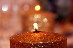 Candle Boke Stock Images