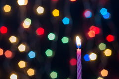 Candle Bokeh art abstract Stock Images