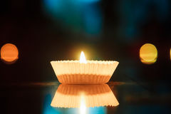 Candle with bokeh Royalty Free Stock Photo