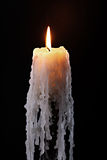 Candle on bottle Royalty Free Stock Images