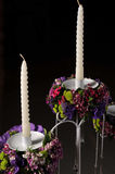 Candle bouquet Stock Images